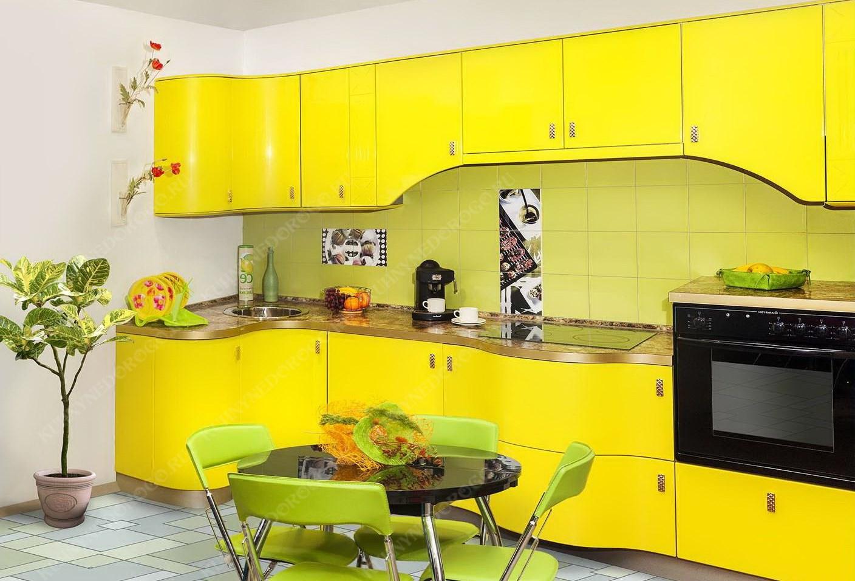 кухня желтая с подсолнухами фото спешу